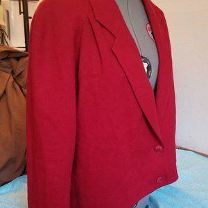 Koret Career Petites Red Blazer